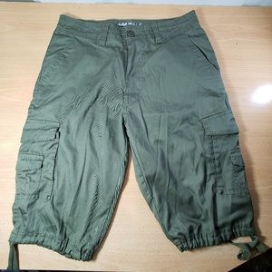 Cargo Shorts - Olive Green - Mens 32 - Lightweight